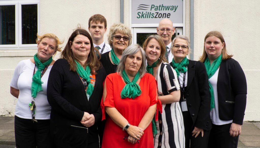 Pathway Group Burslem - Team Photo outside centre