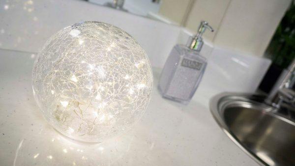 Burslem Centre - Beauty Room Glass Ball with Lights